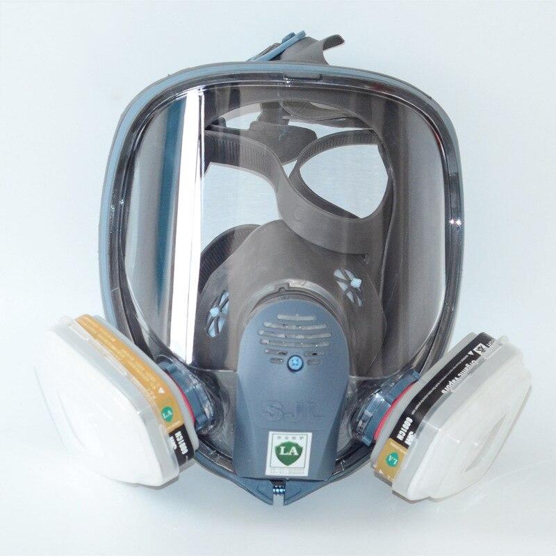 Full Face 6800 7pcs suit Gas Mask Pesticides Facepiece Respirator Painting Spraying 6001 filter cartridge Chemical medicine