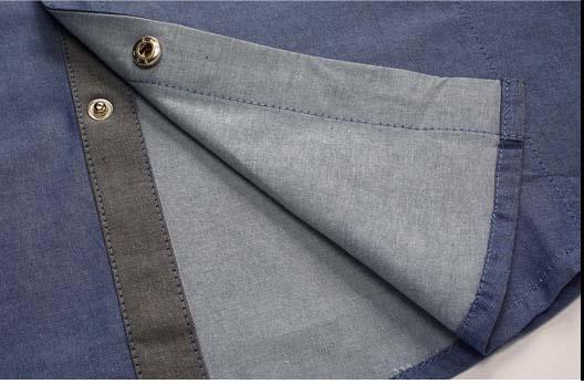 Floral Print Striped Dress Men Shirt Uniform Mens Long Sleeve Slim Fit Top Vintage Cotton Button Down Shirts Camisa Masculina 45