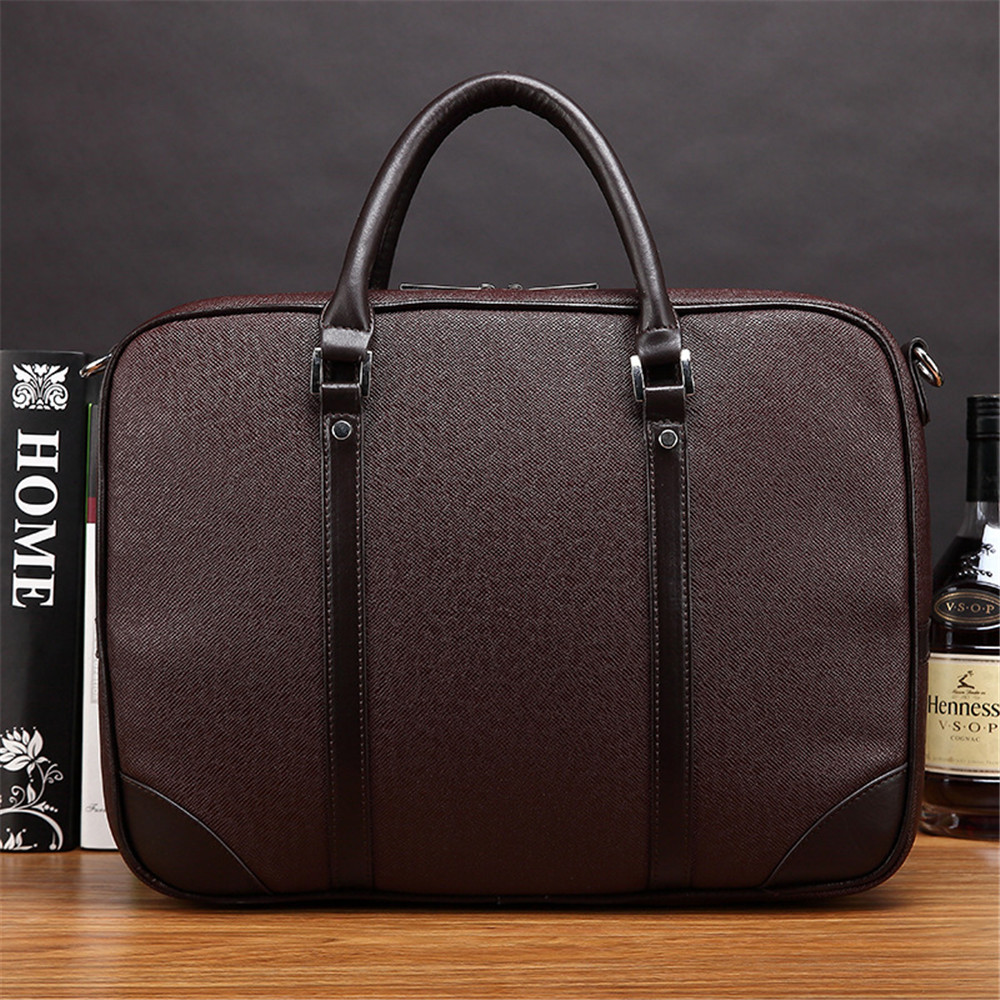 Men Business Briefcase 13 inch Notebook Tablet Shoulder Messenger Bag Vintage PU Leather Handbag for Macbook Air Lenovo HP redfox сумка full size business messenger 1000 черный