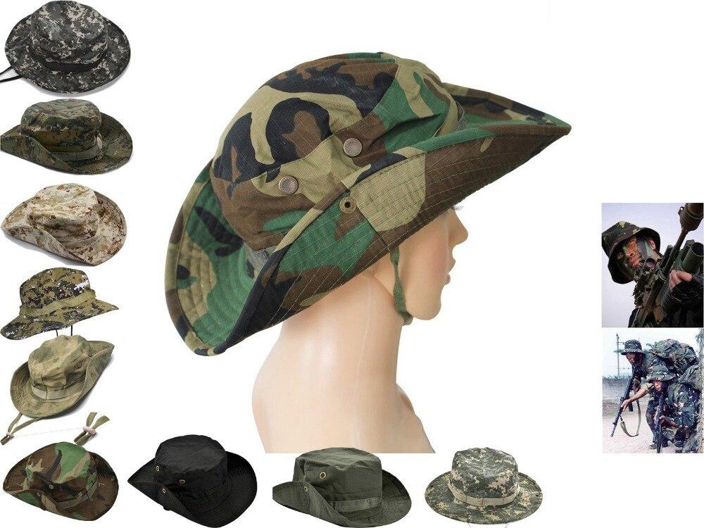 lo último conseguir baratas compra original Sombrero del cubo de Boonie militar sombrero camuflaje sol ...