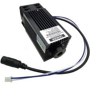 Image 1 - Cabeza de grabador azul de alta potencia 10W Módulo de diodo láser 450nm 10000mw TTL Máquina De Grabado De Corte cortador CNC