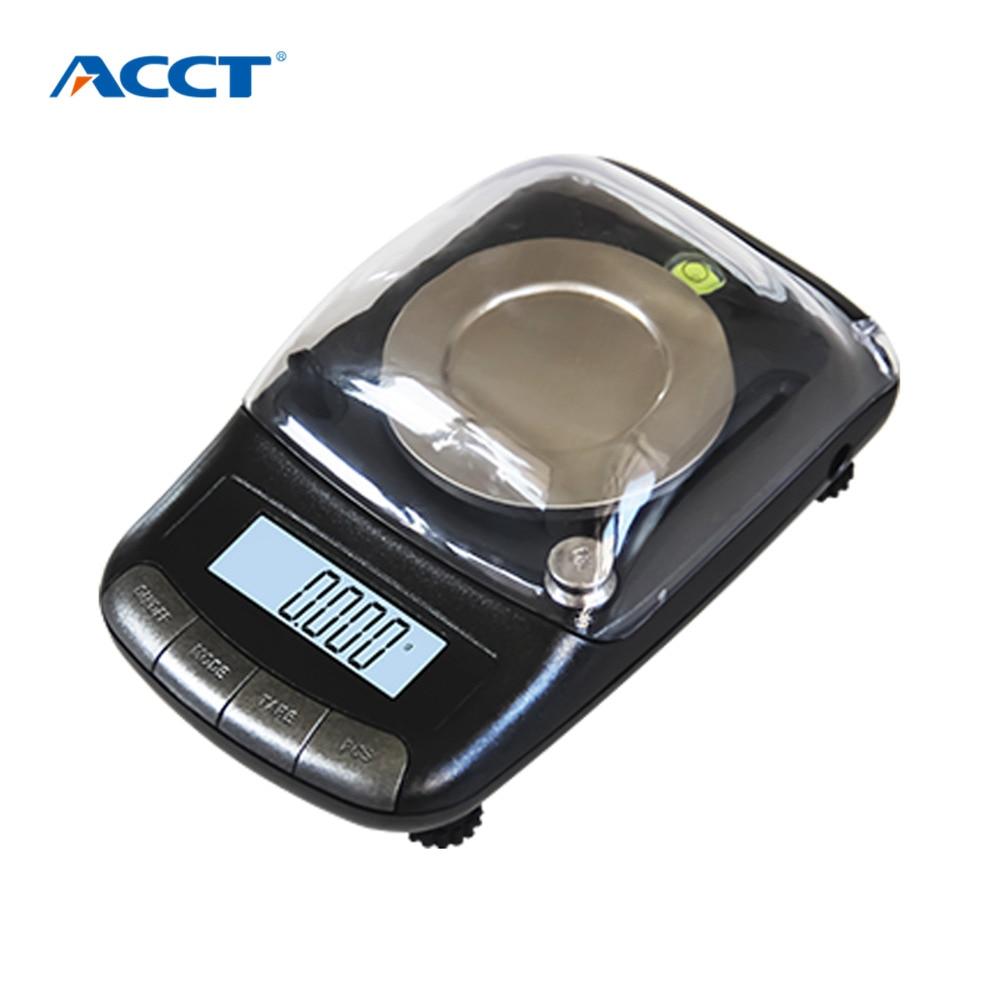 Balance électronique portative de bijoux de précision de 0.001g 20g/0.001 Balance de pesage de poche médicale de germe d'or de diamant