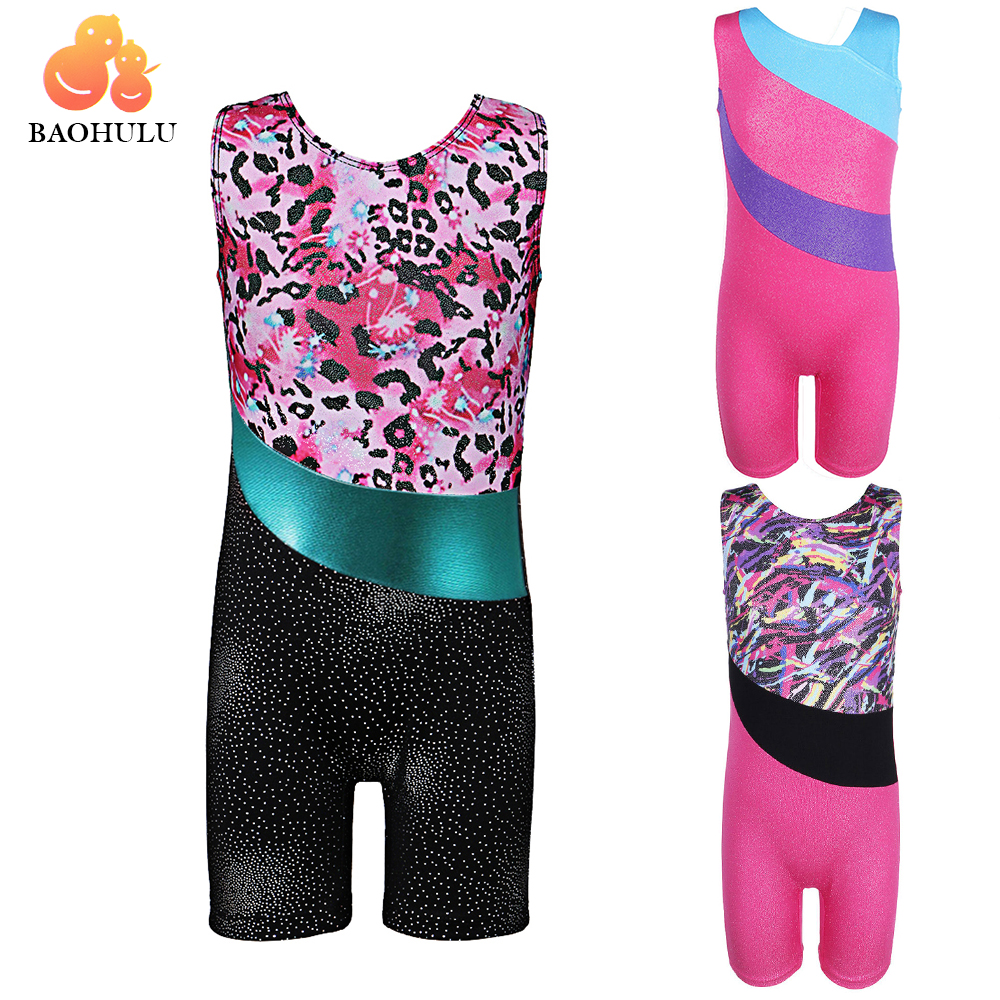 BAOHULU One-Piece Toddler Ballet Athletic Dance Dress Flickor Ballett Leotarder Gymnastik Leotards Acrobatics Kids Cosplay Danceear