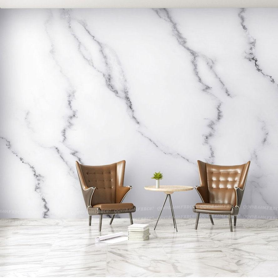 Bacaz Jazz White Marble Wallpaper Mural for Living Room TV ...