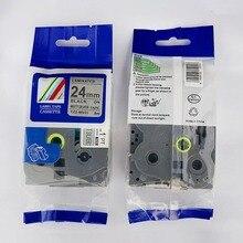 Производитель прямые продажи совместимый TZe-M951 черный на матовый Щепка 24 мм этикетки для Ptouch принтер этикеток Идеальная совместимость