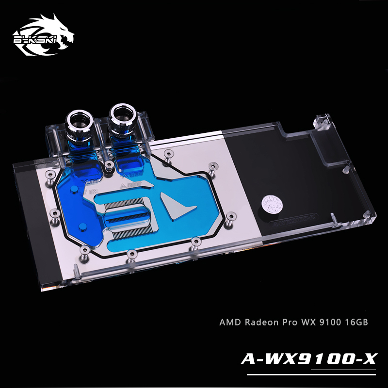 Bykski Water Block use for AMD Radeon Pro WX 9100 16GB / Full Cover GPU Copper Radiator Water Cooling Block RGB Light bykski water block use for sapphire nitro radeon rx vega 64 8gb hbm2 11275 03 40g full cover gpu copper block radiator rgb