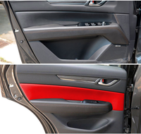 Microfibre Leather Interior Doors Panel Cover For Mazda CX5 2017 2018 AAB171
