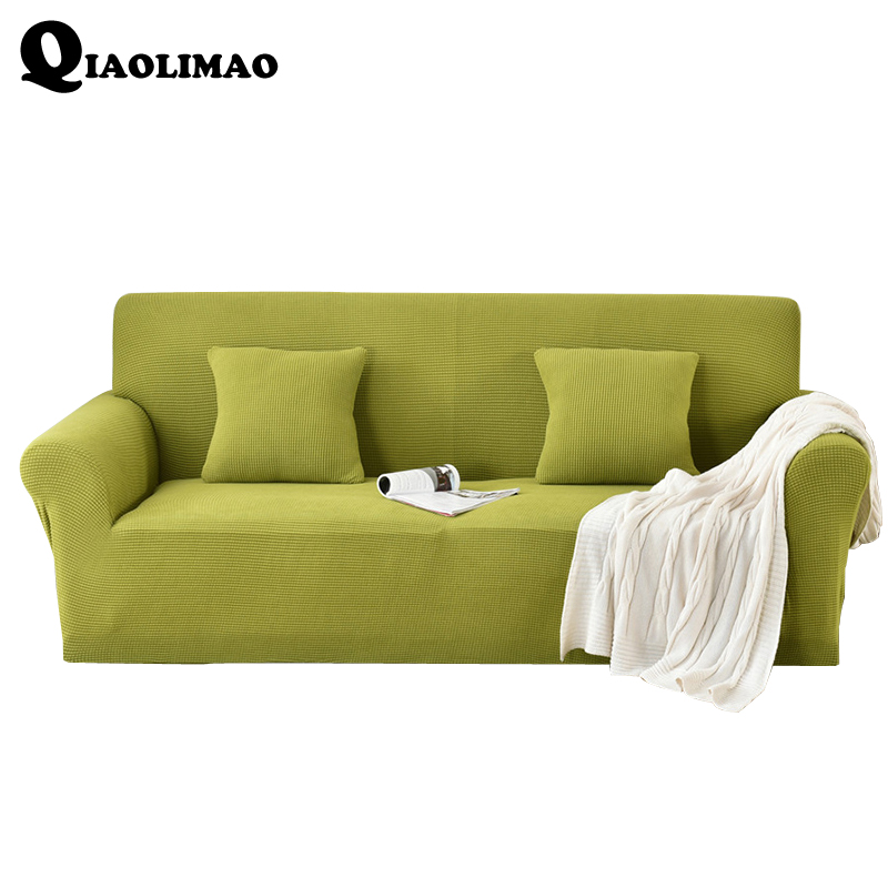 Washable 2 Pcs Stretch Elastic Sanding Sofa And Cushion Cover Set Couch Covers