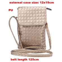 Shoulder Belt Lady Shopping Pouch Zipper Artificial Leather Phone Case For Xiaomi Mi Note 2,Mi Mix,Asus Zenfone 6 A600CG(China)