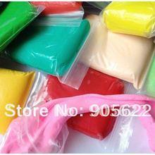 Минимальный заказ 24 шт, 24 цвета, 20 г упаковочный светильник, воздушная сухая глина,, экологичный материал