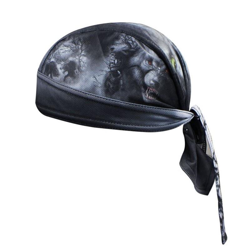 Bike Hat Flexibilní Cyklistická přilba Čepice Ženy Muži Černá Cyklistika šátek piráti šátek MTB Team Čelenka Čelenka Skull 2019 čepice
