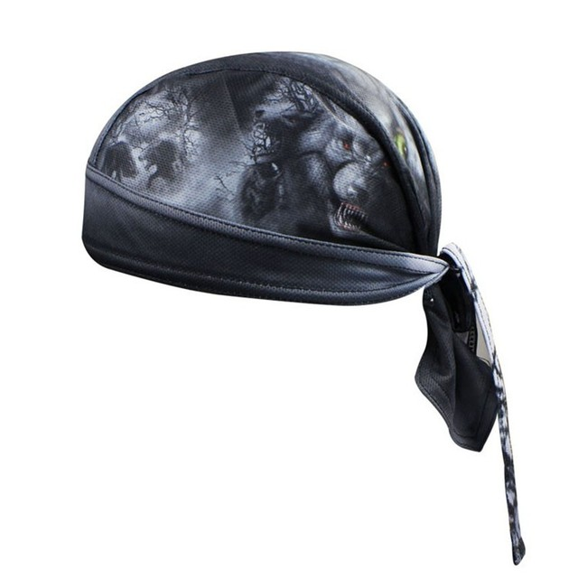 Bike Hat Flexible Cycling Helmet Cap Women Men Black Bicycle bandana pirates scarf MTB Team Headband Headwear Skull 2019 cap