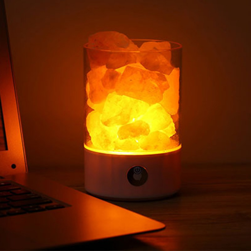 Himalayan Salt Crystal Rock Lamp Natural Purification Air Multicolor Lamps Night Light USB Romantic Night Lantern