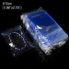 500pcs 6x8cm Clear PVC Zip Lock Plastic Bag for Jewelry Ornaments Anti-oxidation Packing Bags Reclosable Necklace Pearl Pouches