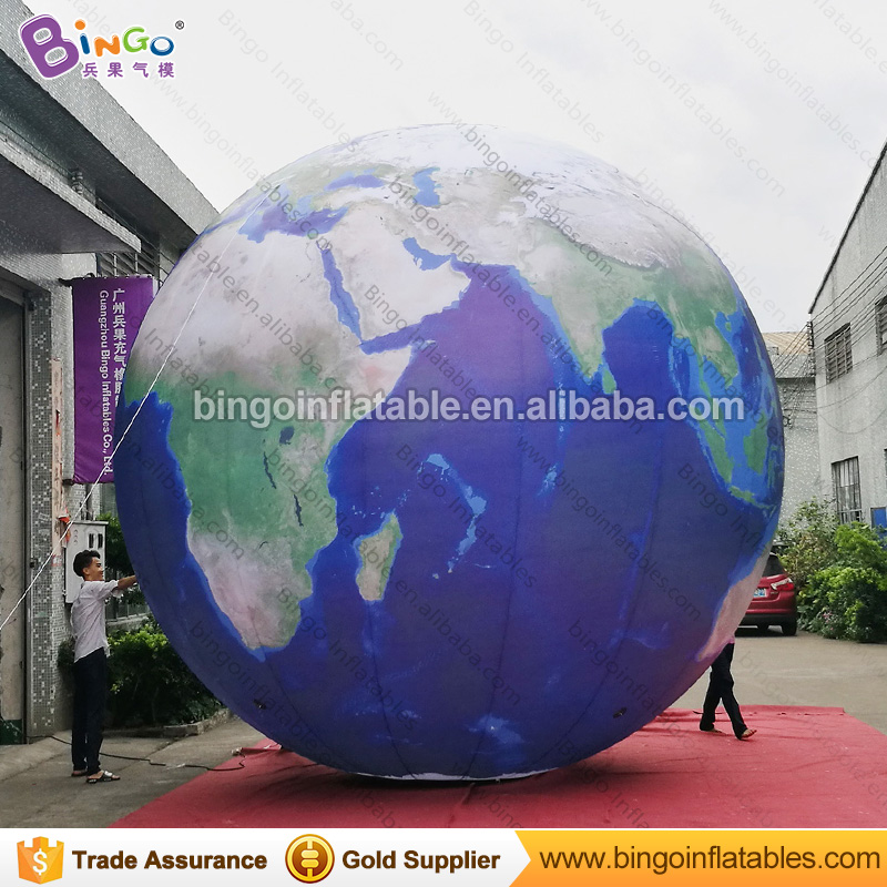 Customized 16 Feet Inflatable Earth Globe Outdoors 5 Meters Giant Earth Balloon Inflatable For Decoration Toys