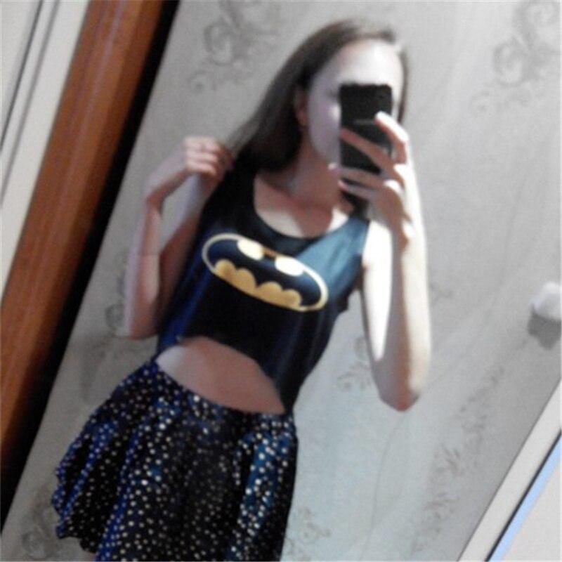 SexeMara Mode Kelelawar Misterius Wanita Crop Tops Pendek Sexy Tank - Pakaian Wanita - Foto 4