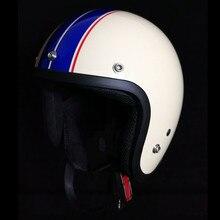 Горячая Распродажа, винтажный мотоциклетный шлем Casco Capacete motoqueiro, мотоциклетный шлем 3/4, шлемы с открытым лицом, реактивный Ретро шлем в горошек