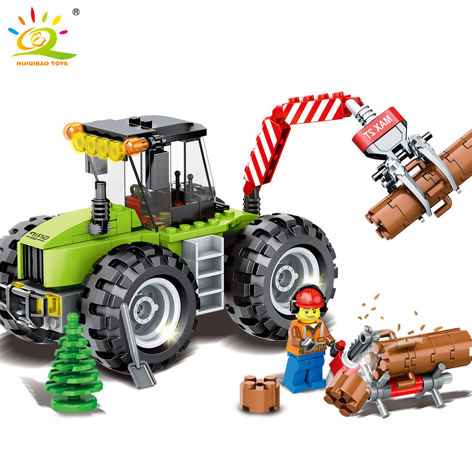 City Construction Logging Truck Building Blocks DIY Compatible Legoed City Engineering Shop Vehicles Enlighten Bricks For Child engineering excavator vehicles bulldozer model building blocks compatible legoed city construction enlighten bricks children toy