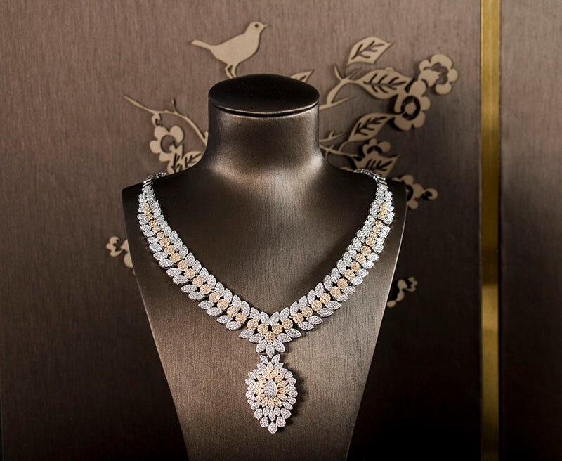 LAN PALACE luxury original design copper alloy cubic zirconia jewellery set earrings necklace ring bracelet free shipping