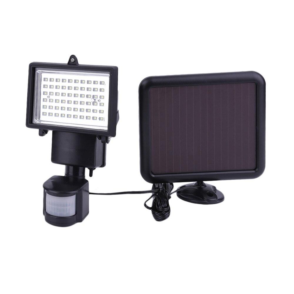 цена на 60 LED Solar LED Floodlight Outdoor Garden Solar Motion Sensor LED Floodlight Lamp For Garden Path Wall Emergency