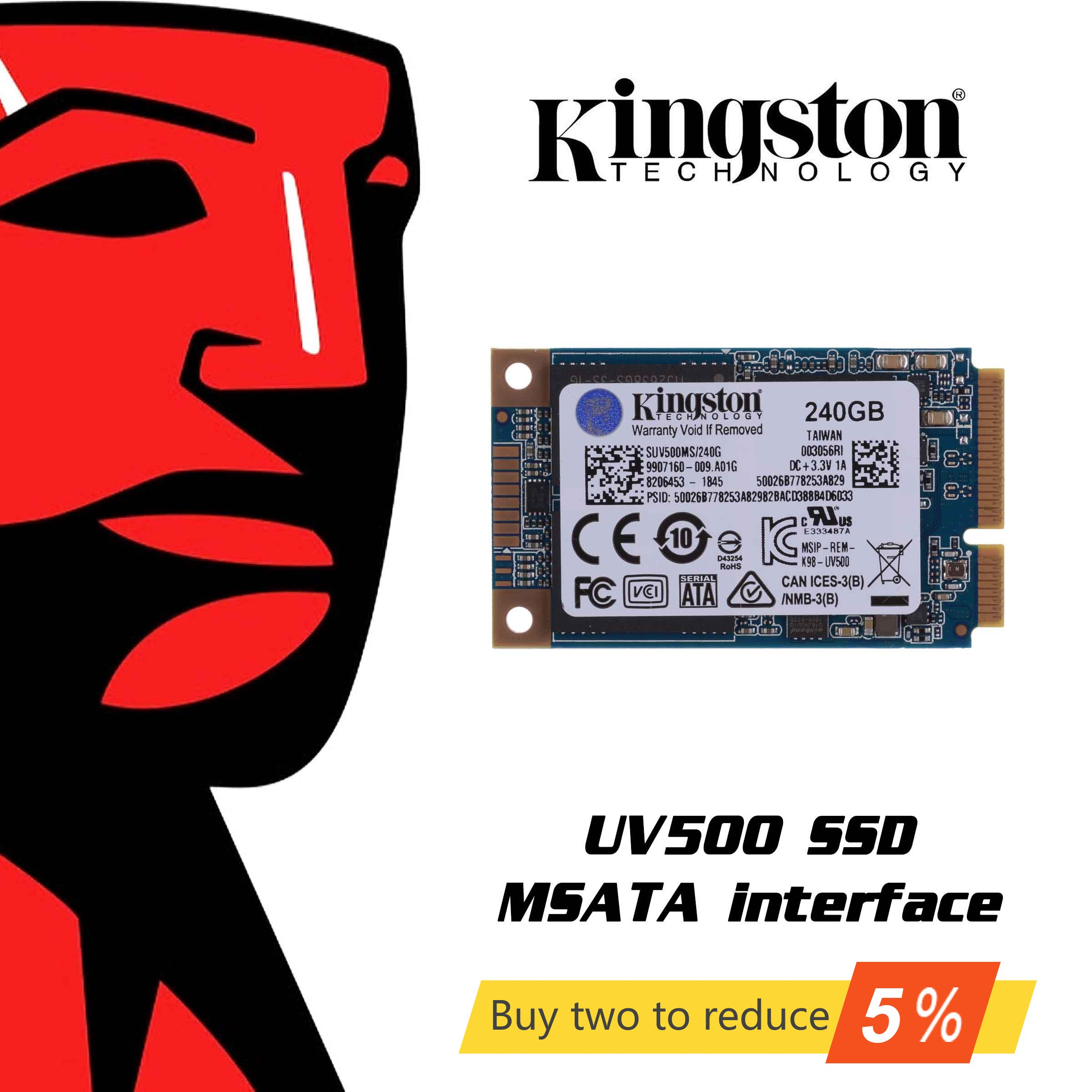 Original Kingston UV500 <font><b>SSD</b></font> <font><b>120GB</b></font> 240GB hdd 480GB 1.92tb mSATA Internal Solid State Drive Hard Disk <font><b>HD</b></font> <font><b>SSD</b></font> For laptop image