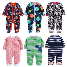Newborn Baby Boy Autumn-winter Fleece Climbing Clothes 3-12M Kids Footed Pajamas Long Sleeved Infant Girls Cartoon Clothing cospot rush sale newborn footed jumpsuit kids winter autumn pajamas bebes body suit footies baby boy girl clothes 3pcs lot 30d