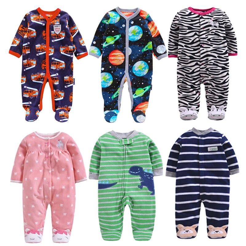 Pasgeboren Baby Jongen Herfst-winter Fleece Klimmen Kleding 3-12 M Kinderen Footed Pyjama Lange Mouwen Baby Meisjes Cartoon Kleding Goed Voor Energie En De Milt