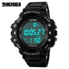 Casual Waterproof Wristwatch Big dial Fashion Sport watch SKMEI 3D Pedometer Sport Outdoor