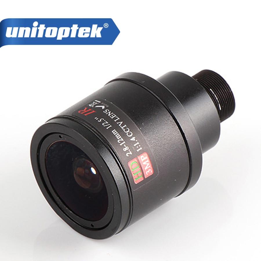 3.0Megpixel Fixed Iris HD CCTV Camera Lens 2.8-12mm Varifocal IR HD Security IP Camera Lens Manual Zoom & Focus M12 Mount F1.4 8mm 12mm 16mm cctv ir cs metal lens for cctv video cameras support cs mount 1 3 format f1 2 fixed iris manual focus