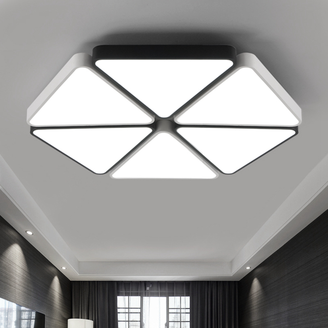 Modern Triangle Led Panel Surface Mounted Ceiling Lamp
