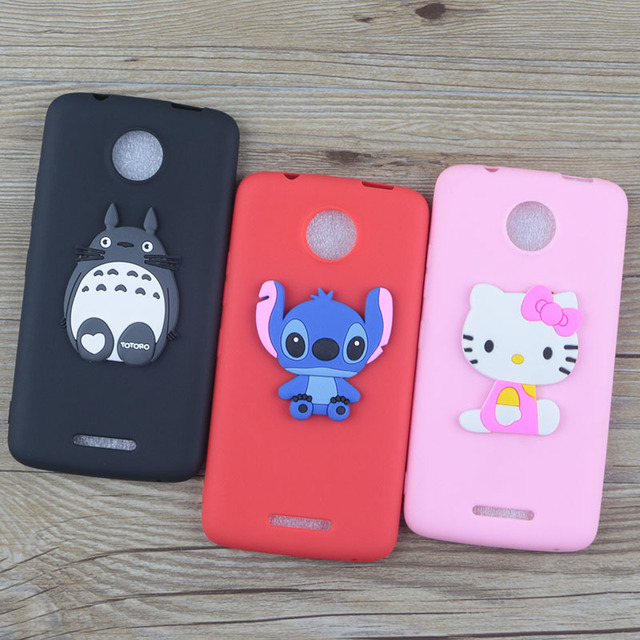 promo code 87aab cf084 US $1.48 5% OFF|Cute Cartoon Silicone Case for Motorola Moto C / C Plus  Cases Stitch Hello Kitty Minnie Bear Cat Soft TPU Phone Cover-in Fitted  Cases ...