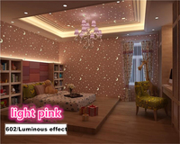 Beibehang Environmentally Nonwoven Wallpaper Luminous Stars Moon Child Cottage Bedroom 3d Wallpaper Papel De Parede Papier