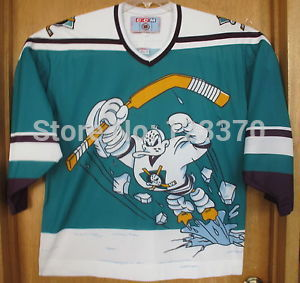 blank custom 95 96 Throwback Anaheim Mighty Ducks Wild Wing Alternate Jersey  cheap authentic sports jerseys sewn any NO. Name-in Hockey Jerseys from  Sports ... 064fe0d46