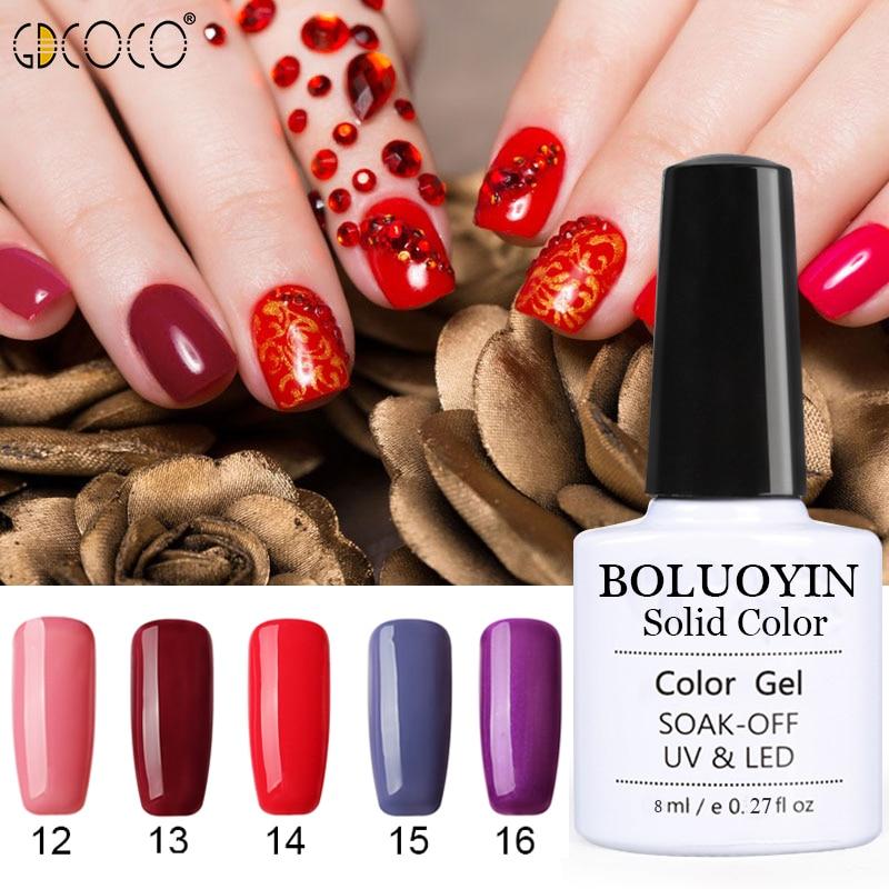 BOLUOYIN 8ml UV Gel Nail Polish All For Art Semi Permanent Varnish Hybrid Lacquer Manicure Tool
