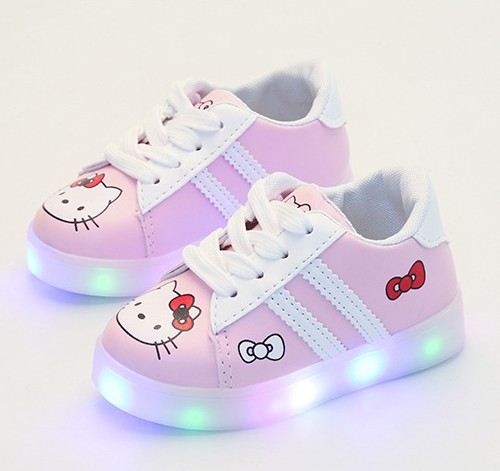 Bonjour Kitty Lumineux s allume lumineux sneakers chaussures pour enfants  fille en bas âge chaussures 572a7b1c747b