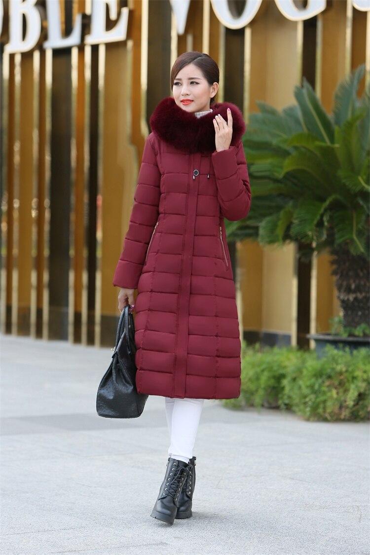Long Manteau rembourré Haute La red Coton Plus Hiver A690 Capuchon Fourrure Qualité À De Mince 5xl Épaissir Parkas Col green 2017 gray Black Femme Taille Xl wwxZfCq8z