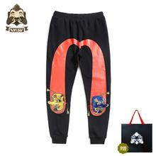 Evisu Fashion Trend Mens Pants Versatile Cotton Men And Women Couples Printed Sweatpants Casual Warm Breathable Trousers