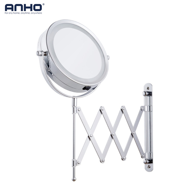 makeup mirror bath mirror led arm magnification wall mounted rh aliexpress com adjustable arm bathroom mirror adjustable magnifying bathroom mirrors