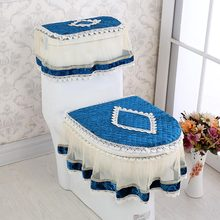 3 Pcs Set Toilet Seat Cover Renda Berbentuk U Mantel Tahan Lama WC Dekorasi Tahan Debu Tikar Anak-Sale(China)