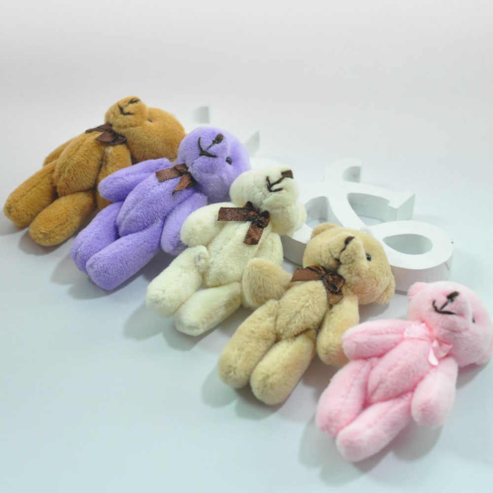 13 см галстук-бабочка медведь на шарнирах плюшевый медведь кукла подвеска на мобильный телефон мультяшный букет материал Свадьба плюшевая игрушка брелок телефон Starps