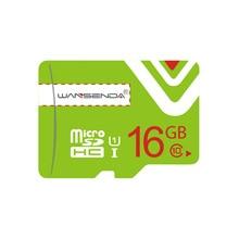 Hot sale Green Memory Card Wansenda Micro SD Card Class 10 8gb 16gb 32gb TF Card H2testw Tested for Smartphone free shipping