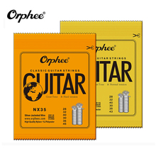 ФОТО orphee classic classical guitar strings nylon and silver plated wire hard/normal tension 028-043/028-045 factory direct sale