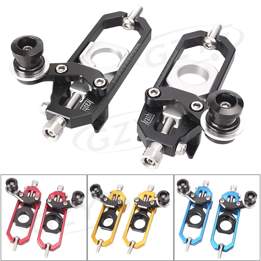For Aprilia RSV4 Factory R Rear Chain Adjuster Tensioners with Spool 2010-2014 Motorbike Parts Accessories CNC Aluminum Alloy motorcycle cnc chain adjusters tensioners with spool fit for aprilia rsv4 2010 2014 2010 2011 2012 2013 2014 10 11 12 13 14