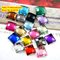 5,000pcs/Bag 6*6mm Flat Back Square Shape Acrylic Rhinestones,Acrylic Plastic 3D Nail Art / Garment /Jewelry Rhinestone