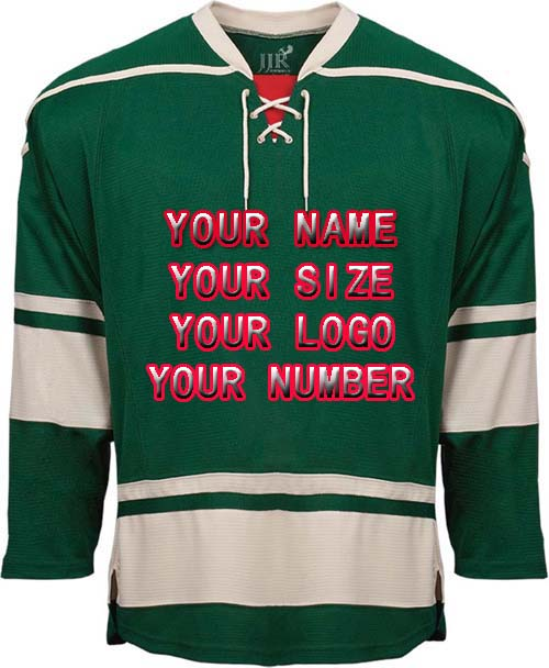 2017 Factory Custom Free Design Logo Wholesale ICE Hockey Jerseys Replica Home Away Mens Vintage Jersey Green White Red XXS-6XL