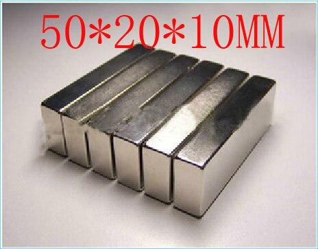 Block magnet 50 x 20 x 10 mm powerful magnet craft magnet neodymium rare earth neodymium permanent strong magnet n50 n52 1pcs 20 mm x 5 mm craft model super powerful strong rare earth disc ndfeb magnet neo neodymium n52 magnets 20 x 5 m 20 5