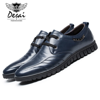 Desai 2017 New Arrival Mens Genuine Leather Shoes Fashion Summer Casual Shoes Man S Lace Up