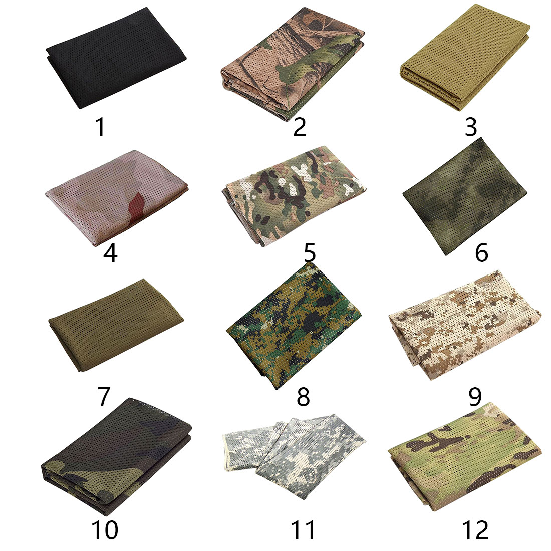 1PC Military Tactical Camouflage Scarf Sport Mesh Breathable Headband Mesh Scarf Outdoor Jungle Muffler Camping Hiking Men Scarf