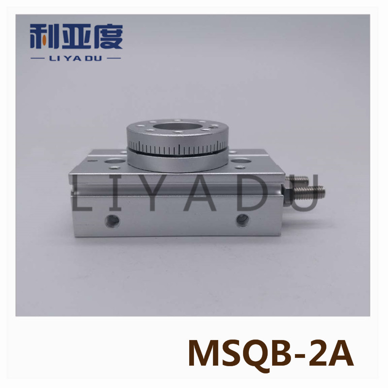 SMC type MSQB-2A rack and pinion type cylinder / rotary cylinder /oscillating cylinder, with angle adjustment screw MSQB 2A smc type cylinder msqb 50a rotary table rack and pinion type bore size 25mm accept custom air cylinder smc cylinder