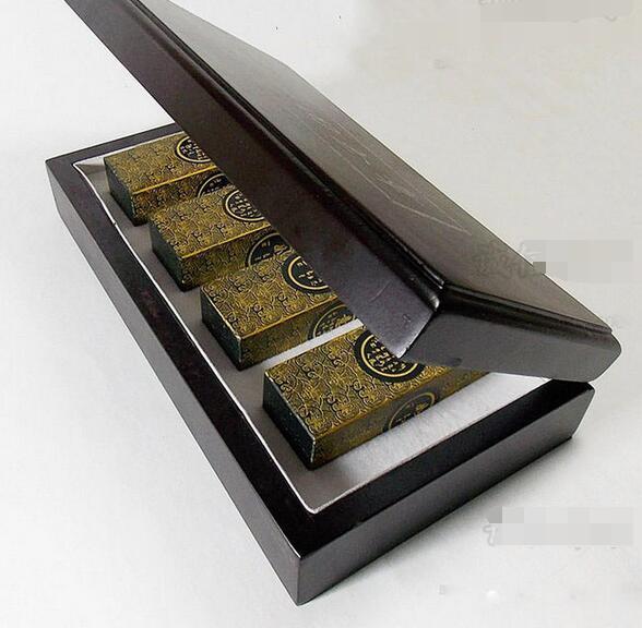 Free Shipping Jewelry Handmade Genuine Hetian Jade Seal Lucky Year